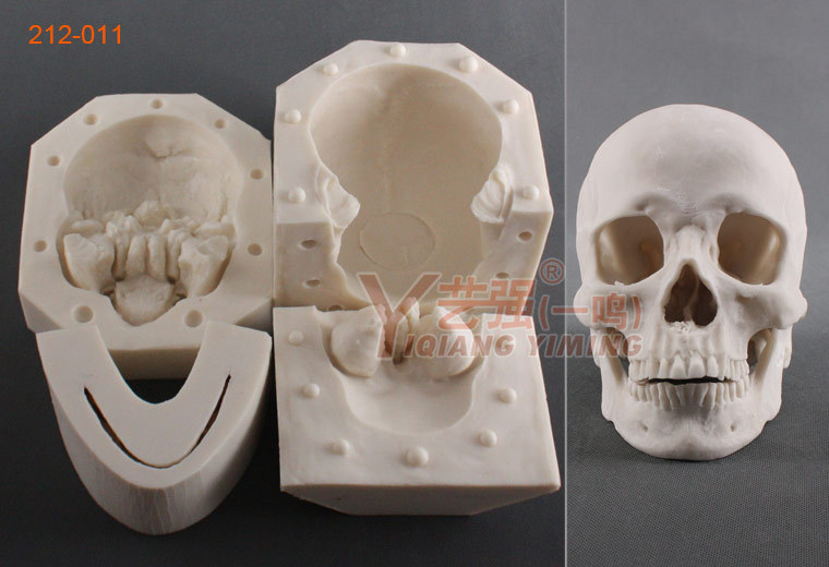 Yqym Silicone Resin Skull Mould Silicone Chocolate Skull