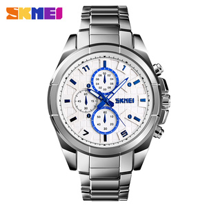 Image 2 - SKMEI NEW Business Men Quartz Watches Alloy Strap Large Dial Watch Waterproof Wirstwatch Relogio Masculino 1378 erkek kol saati