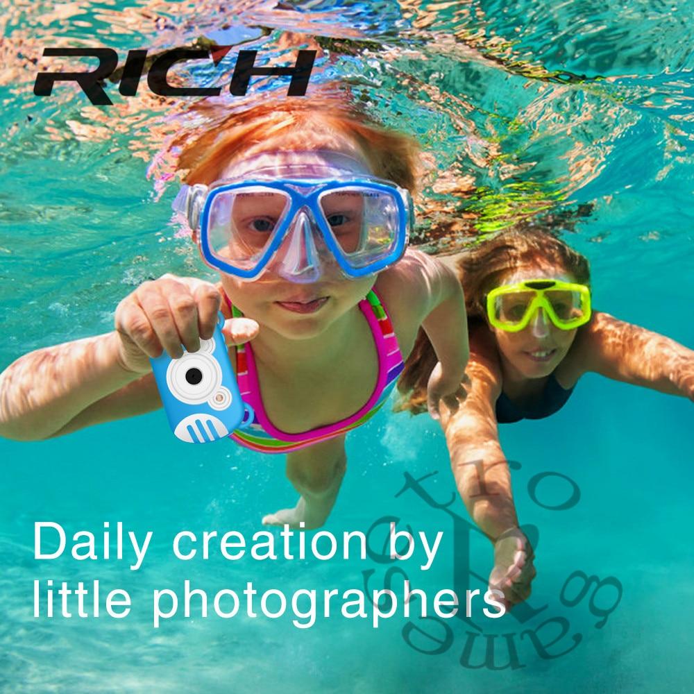 Rich waterproo k6 enfants caméra 2.7 pouces 5MP Mini caméra numérique pour bébé mignon dessin animé multifonction jouet caméra enfants