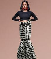 Fashion 2019 New design white color java Print Ankara Wax Long skirt women dress Print wax skirt hot selling african clothing