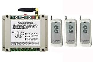 Image 2 - DC12V 24V 36V 48V 2CH 500m Long Range RF Wireless Remote Control Relay Switch Security System tubular motor garage door shutters