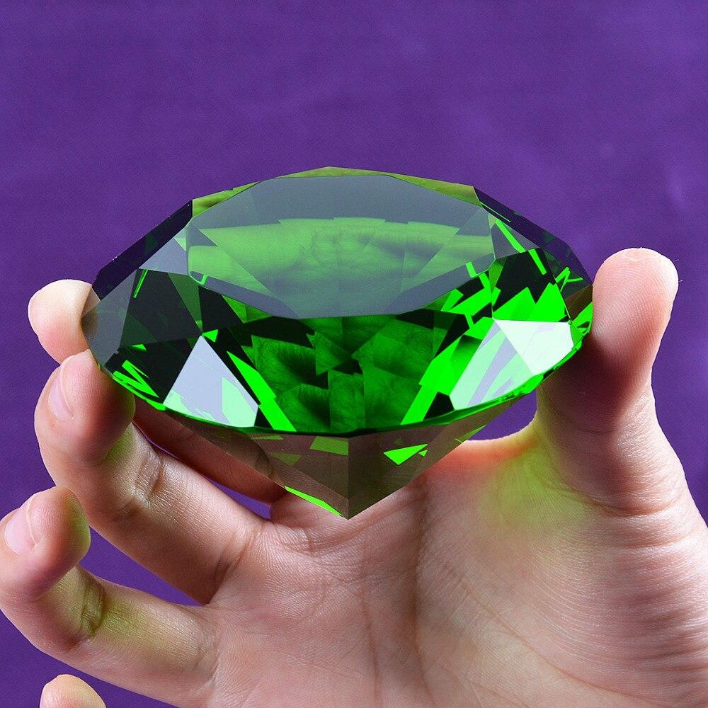 Loď z USA 80 mm zelený krystal diamant těžítko domů svatební dekorace křišťál diamant přítelkyně dárek diamant krystal