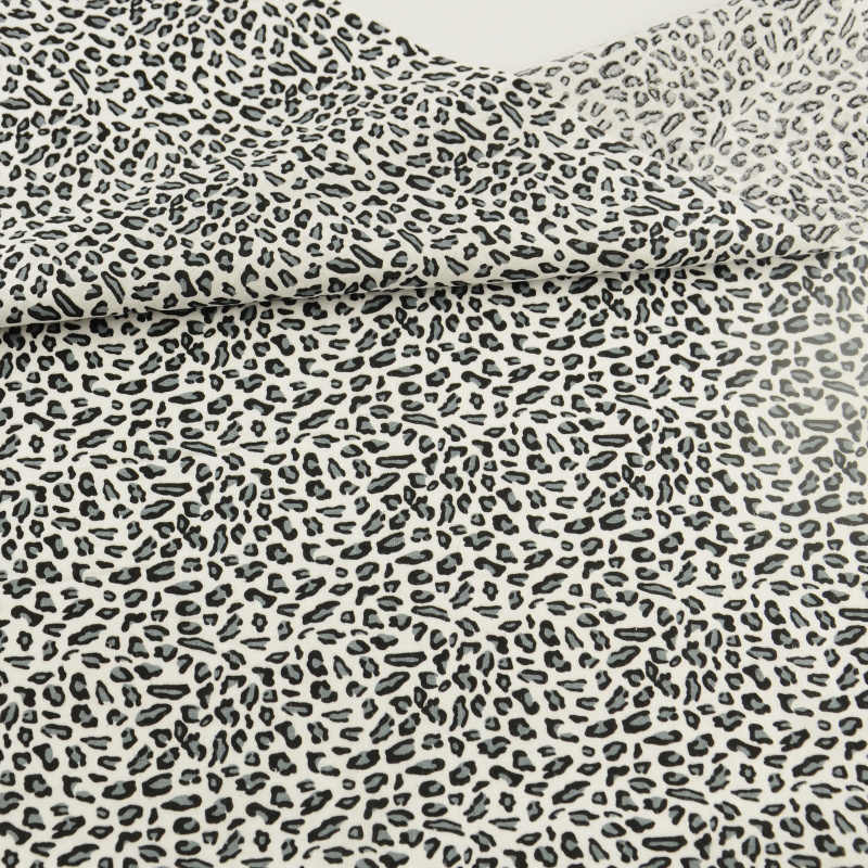 Leopard Printed 100% Black Cotton Fabric Tales Tissu Quilting Patchwork Sewing Dolls Toy Home Textile Stoffen Bedding  Craft