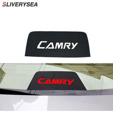 Car Styling DIY Waterproof Sticker Rear Brake light Dedicated Carbon Fiber accessories For Toyota Camary