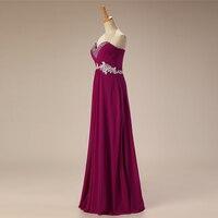Cheap Evening Dresses Long 2018 A Line Sweetheart Beaded Appliques Lace Chiffon Purple Red Blue Women