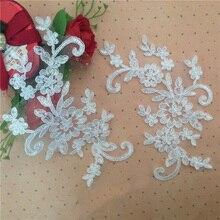 10Pieces Hot Sale Vintage Flower Patch Applique Neckline Venise Collar DIY Sewing Embroidered Lace Trim