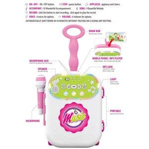 Image 2 - 어린이 음악 수하물 가방 가라오케 노래 기계 마이크 age3 + 소년 소녀 재미 있은 선물 장난감 악기