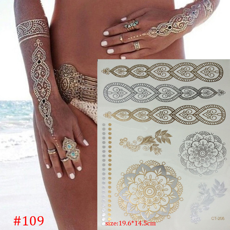 Gold Henna Tattoo: Compare Prices On Sun Sleeve Tattoos- Online Shopping/Buy
