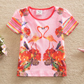 Bandera 2016 del bebé ropa de la muchacha hermosa de la manera 100% ropa de algodón de dibujos animados figura girlmy camisetas Camiseta del verano G6106