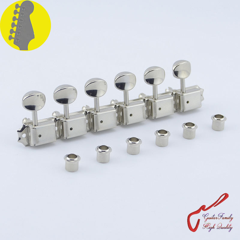 Original Genuine 6 In-line GOTOH SD91-05M Kluson Vintage  Guitar Machine Heads Tuners  ( Nickel ) MADE IN JAPAN 1 set guitarfamily 6 in line kluson vintage guitar machine heads tuners nickel made in korea