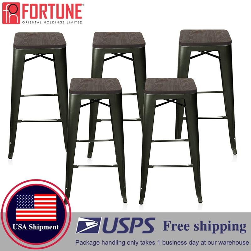 Navire aux etats-unis nouvelle chaise de Bar Simple comptoir en métal haut tabouret moderne à manger chaise meubles tabourets de Bar pour la maison en gros chaises de Bar