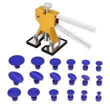 Ferramentas de PDR Paintless Dent repair tool Kits de ferramenta do carro dent extrator/herramientas + 18 Guias Dent Granizo Remoção Levantador ferramenta
