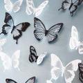 18 teile/los 3d Wirkung Kristall Schmetterlinge Wand Aufkleber Schöne Schmetterling für Kinder Zimmer Wand Aufkleber Dekoration auf Die Wand-in Wandaufkleber aus Heim und Garten bei