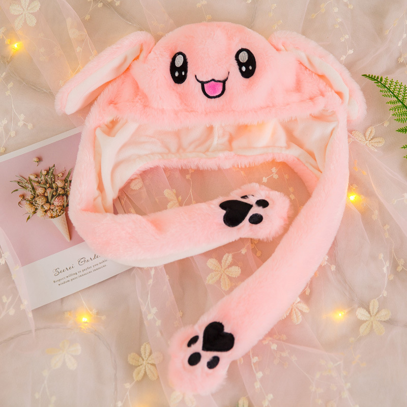 fd65e46c Christmas children hat two dimensional cute animal Movable ears hat, Rabbit  hat that will move hold the ear Children's Day gift-in Christmas Hats from  Home ...