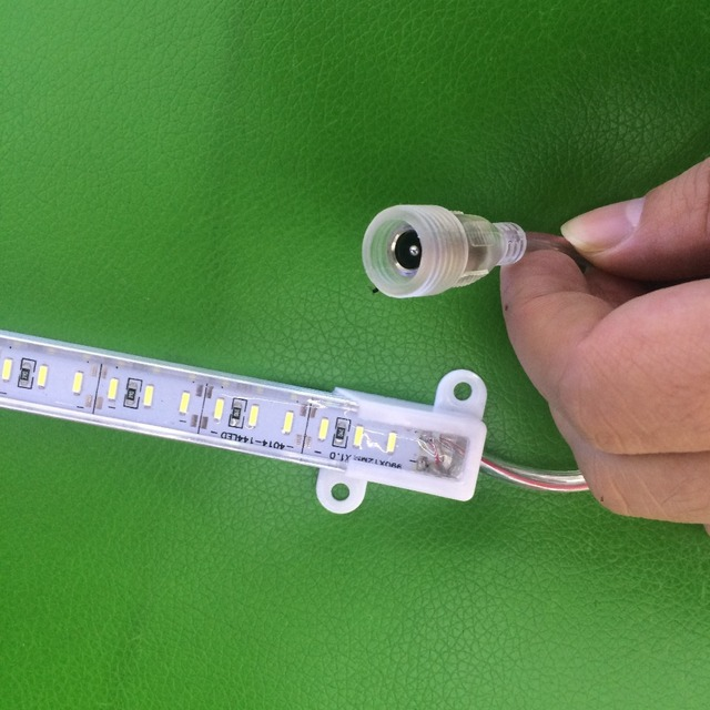 5/10/20Pcs 0.5m Waterproof Hard rigid led Bar light SMD 4014 72 Led Strip Rigid light silicon IP68+ Waterproof DC power plug 12V