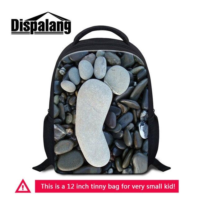Dispalang Children 3d Kids Bag Cute Footprint Small Backpack Toddler Kid Mini School Bags Kindergarten Stone