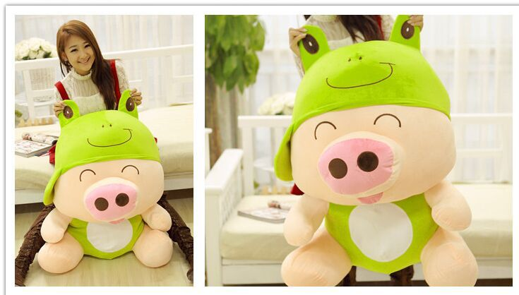 creative pig plush toy huge 95cm McDull pig turn to frog design hugging pillow Christmas gift w0995 платья sparada платье