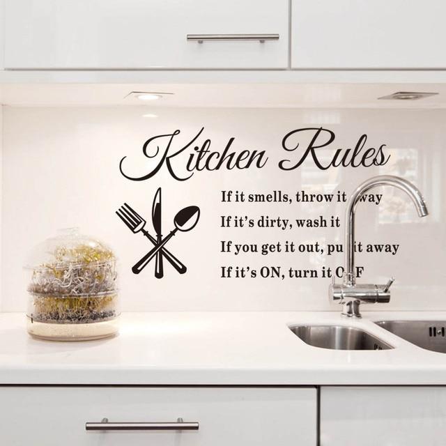 Removable Dinding Stiker Dapur Aturan Decal Home Decor Kata Kualitas Tinggi Pada Penjualan Panas Baru