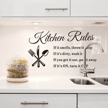 removable wall stickers kitchen rules decal home decor words stickers high quality on hot selling new desgined fashional decor