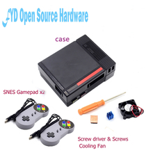 1set Mini NES  NESPI  Case Retroflag case with Cooling Fan and 2 Pack SENS Gamepad Controller for RetroPie Raspberry Pi 3/2/B+