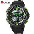 OTS 2017 Grande Relógio Homens Esportes Ao Ar Livre Assistir Eletronicos Daul LED Watch Analógico Digital Natação Mens Relógios Top Marca de Luxo