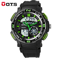 OTS 2017 Large Daul Watch Men Outdoor Sports Watch Eletronicos LED Watch Analog Digital Swimming Mens Watches Top Brand Luxury