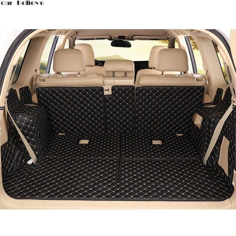 Car Believe car trunk mat For toyota land cruiser prado 120 150 7 seats Cargo Liner