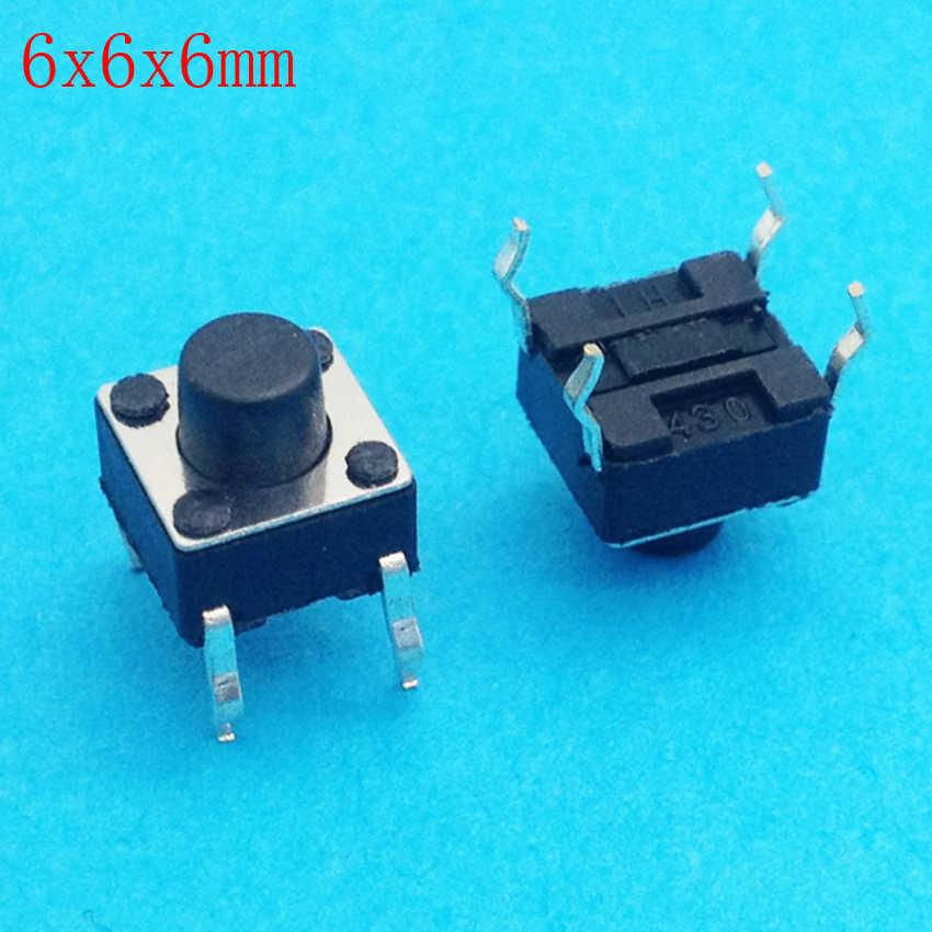6 × 6 × 6ディップ触覚タクトミニプッシュボタンプッシュボタンスイッチマイクロスイッチモメンタリ6*6*6ミリメートル