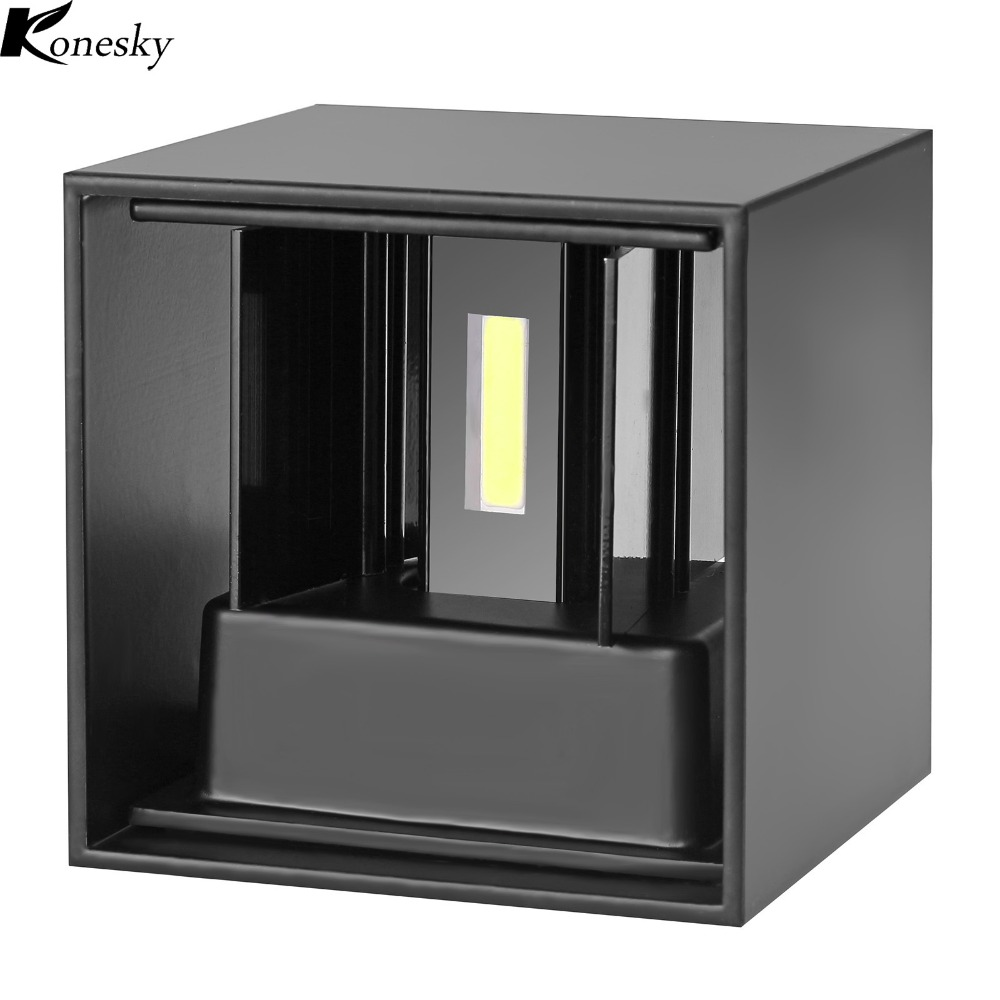 Applique Luminaire Murale Us 20 21 45 Off Konesky 7w Cob Led Wall Lamp Modern Home Applique Murale Luminaire Decoration Indoor Outdoor Use Waterproof Ac 110 220v In Led