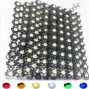 100 pcs 3 W watów wysokiej mocy SMD LED Chip światła koraliki biały czerwony niebieski zielony IR UV z PCB