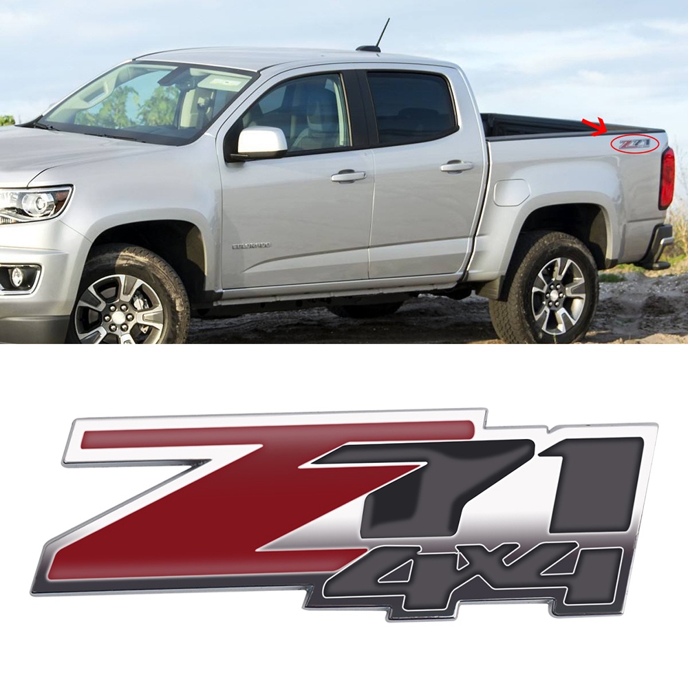 1xAdhesive Emblem Chrome 3D Letter LTZ Chevrolet Silverado Suburban Tahoe Malibu
