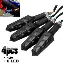4 stücke 6 LED Motorrad Blinker Licht Blinkt Motorrad Anzeige Blinker Moto Wasserdicht Rückleuchten Signal Lampe 12V