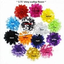 30 шт./партия, 3,75 ''гребешок блестящий цветок, цветок лотоса потертый для повязки волос модные аксессуары