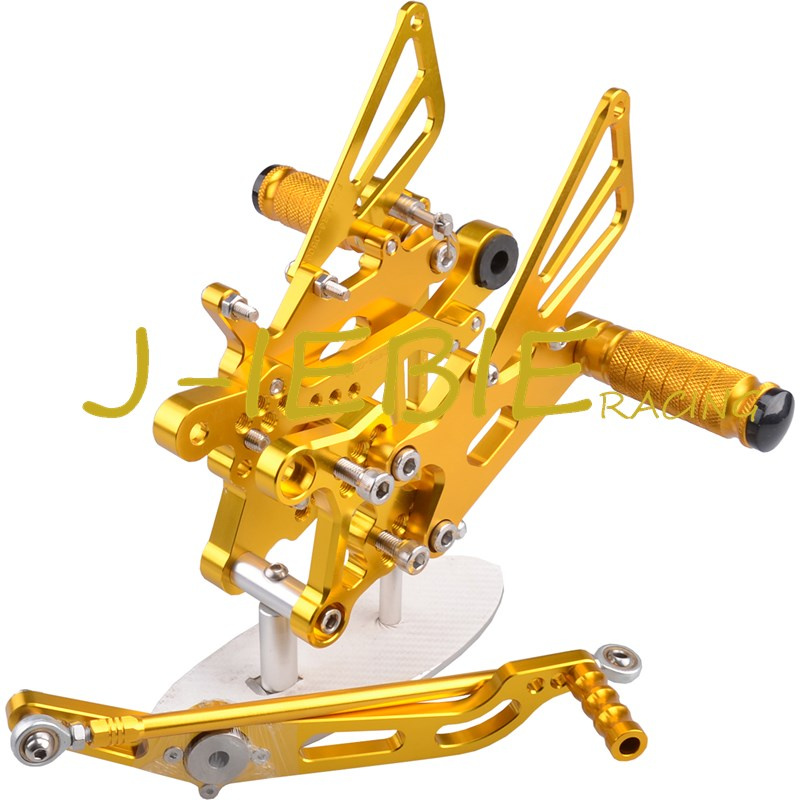 CNC Racing Rearset Adjustable Rear Sets Foot pegs Fit For Yamaha YZF R6 2006 2007 2008 2009 2010 2011 2012 2013 2014 GOLD free shipping motorcycle parts silver cnc rearsets foot pegs rear set for yamaha yzf r6 2006 2010 2007 2008 motorcycle foot pegs