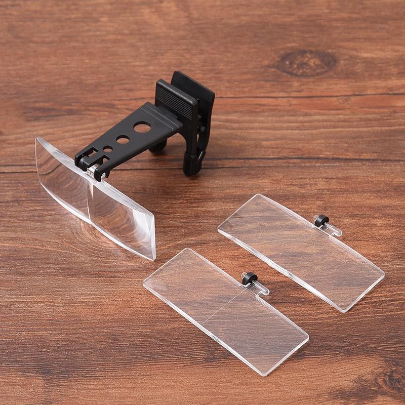 1,5x2,5x 3,5x sulankstomas akinių spaustukas ant apversto lupa - Matavimo prietaisai - Nuotrauka 2