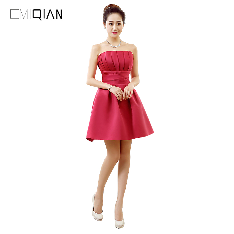Original Design A Line Strapless Scalloped Mini   Cocktail     Dresses