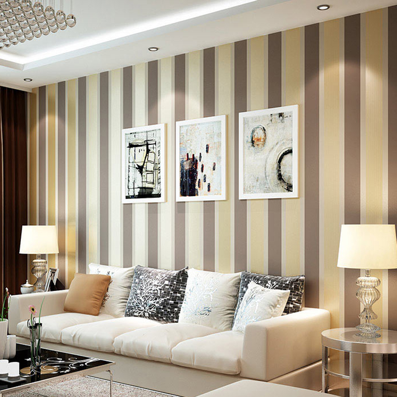 Silver grey wallpaper promotion shop for promotional for Grey silver wallpaper living room