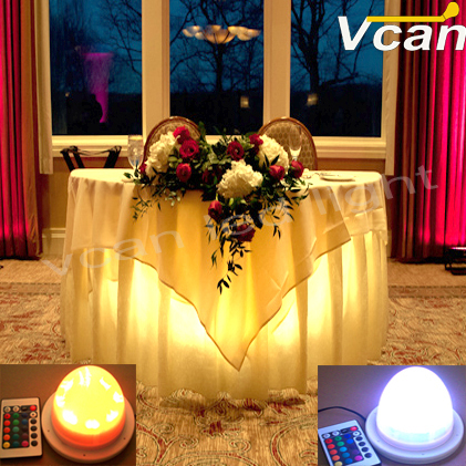 6PCS DHL Free Shipping Factory Wholesale 38LEDs RGBW colors change wedding and party decorative wireless led lighting system