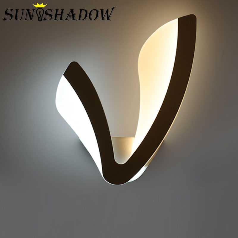 Acrylic Modern Led Wall Light Black&white Sconce Led Wall Lamp For Living Room Bedroom Dining Room Kitchen Creative Led Wandlamp