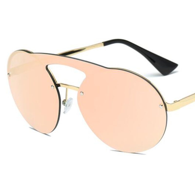 323c918ffd8d7 Round Aviation sunglasses pink mirror glasses steampunk tinted big glasses  large frame brand designer mens oculos feminino -in Sunglasses from Apparel  ...