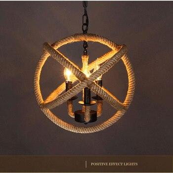 New style! Modern Pendant Lights Rope Pendant Lamp E27 Light for bedroom dinning room kitchen hanglampen voor, Free shipping