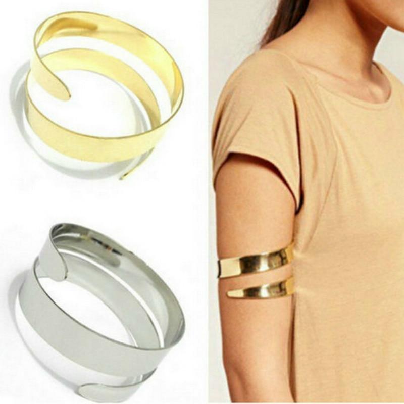 Upper Arm bracelet 2019 Summer New Adjustable Bangles Women Gold Color Arm Cuff Armlet Armband Bracelet Punk Jewelry