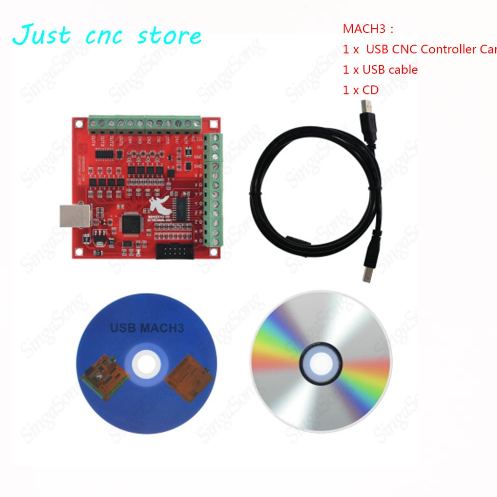 CNC USB MACH3 Breakout Board 4 Axis 100Khz Circuit board interface driver motion controllerCNC USB MACH3 Breakout Board 4 Axis 100Khz Circuit board interface driver motion controller