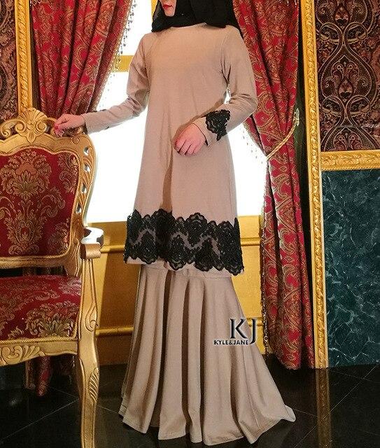2017 muslimischen mode hochzeit abaya top + kleid für frauen set ...