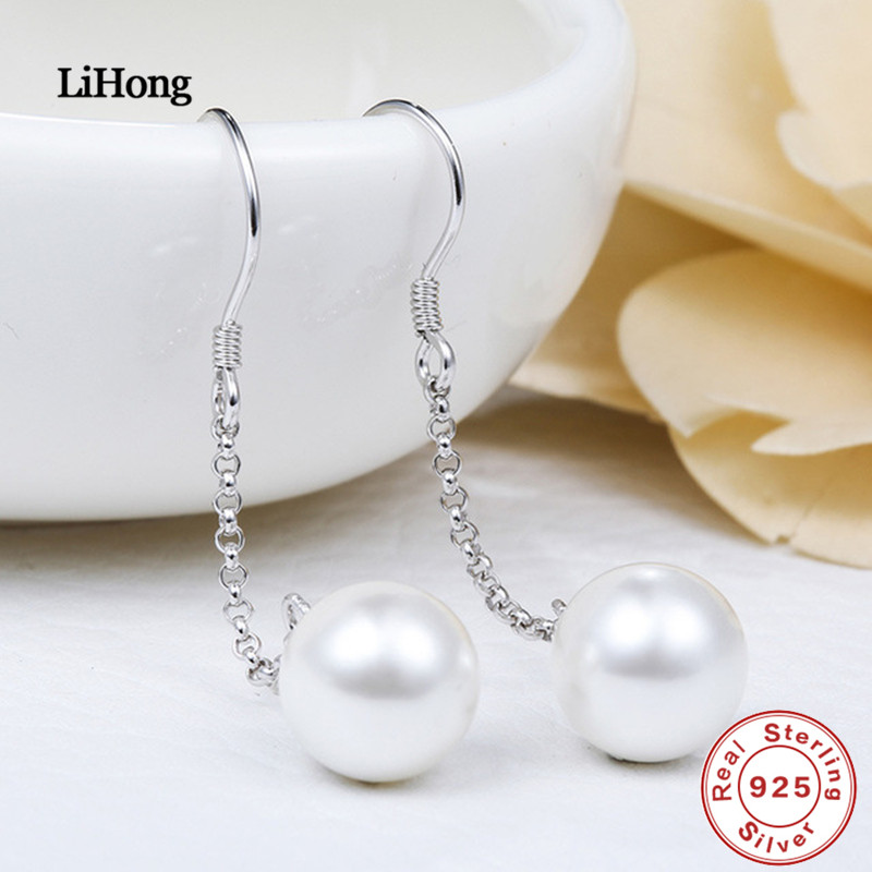 New Fashion Jewelery 925 Silver Earrings Pearl Earrings Dress With The Preferred