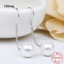 New Fashion Jewelery Earrings For Women Romantic Simple Cute Small White Pearl 925 Silver Female Gifts