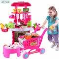 Nova chegada 18 tipos crianças play conjunto de utensílios de cozinha utensílios de cozinha comida em miniatura toys crianças dom de cozinha em miniatura