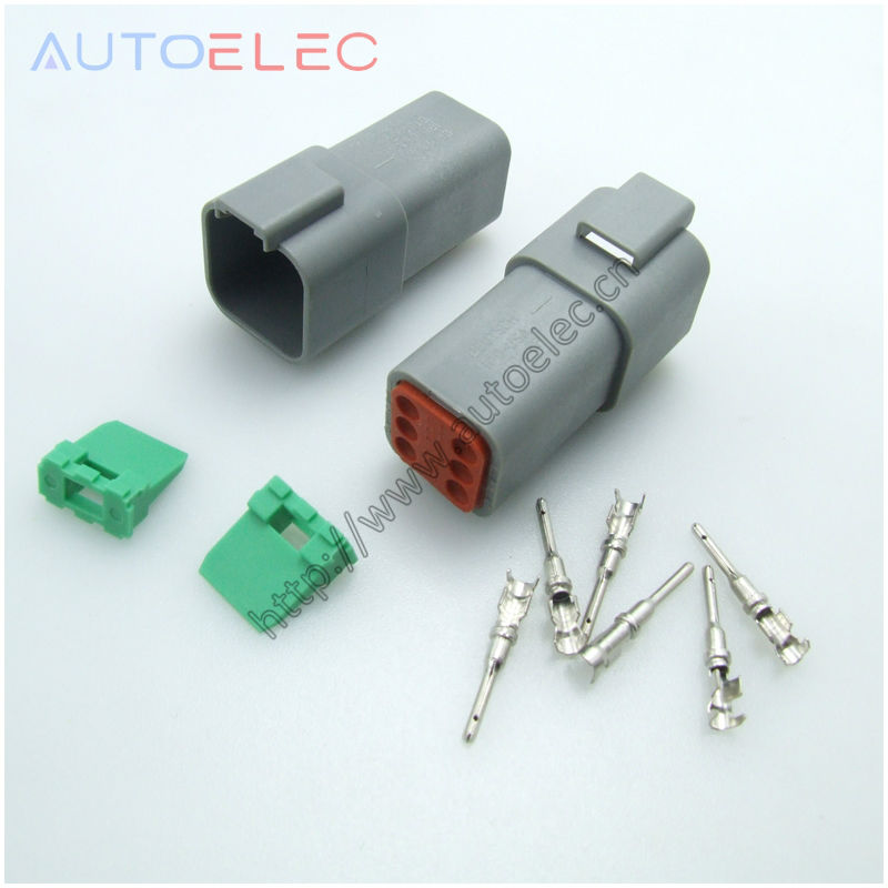 online buy whole deutsch dt connector from deutsch dt 6pin dt06 6p connectors deutsch dt gray female and u barrel crimper terminals 1060