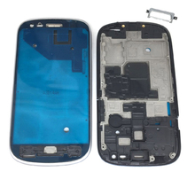 Для samsung Galaxy S3 мини GT-I8190 I8190 I8200 телефон ЖК-дисплей передняя панель рамка средняя рама с кнопка «Домой» клей