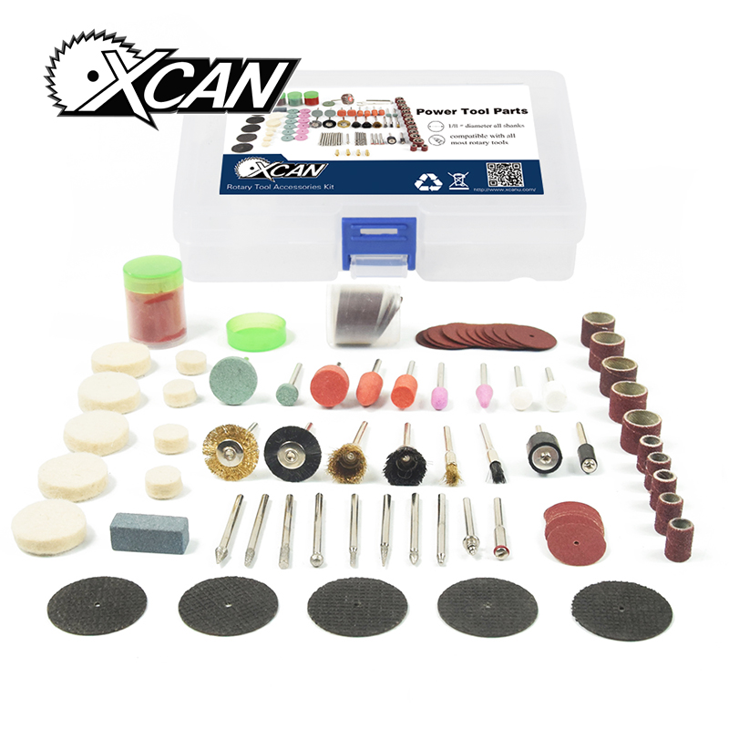 XCAN 113pcs/set Dremel Accessorie Electric Drill Polishing Cutting Sanding for Wood Rotary Tool Power Tool